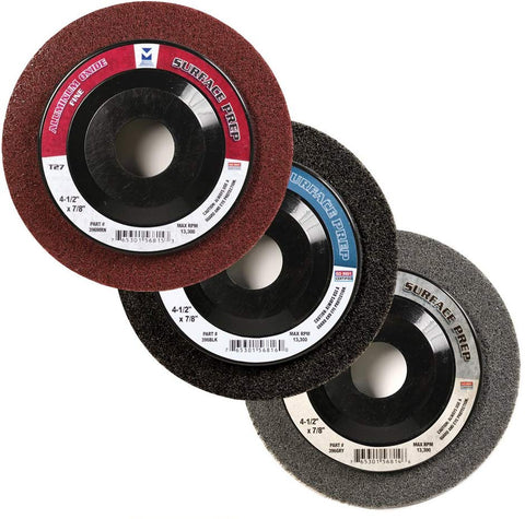 Mercer Industries 396HMRN Surface Prep Wheels Type 27 - StaplerManiaStore