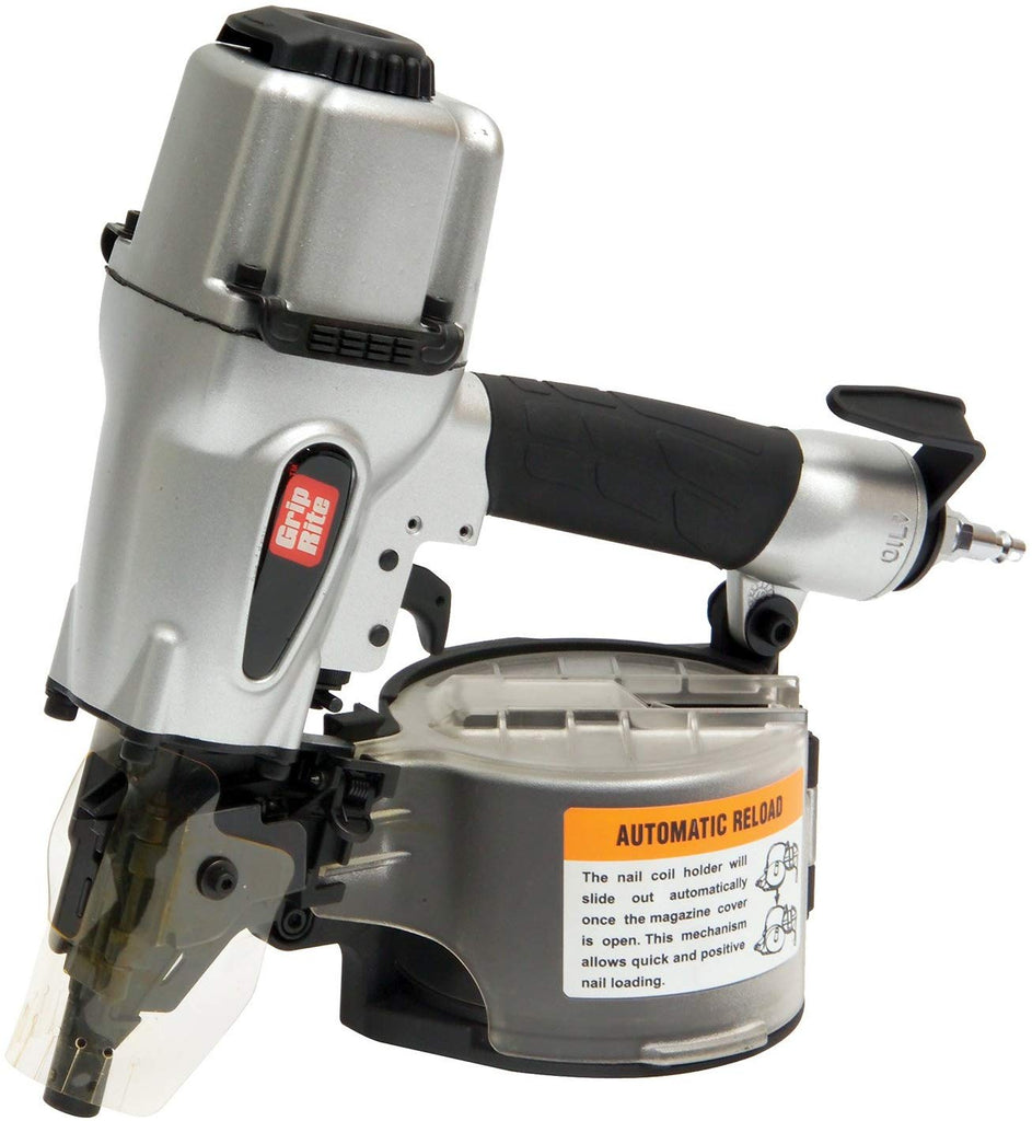 Grip-Rite GRTCS250 Wire and Plastic Collation Coil Siding Nailer, 2-1/2-Inch - StaplerManiaStore