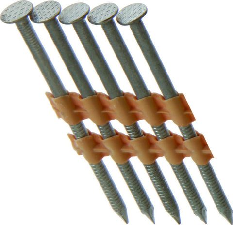 "Grip Rite Prime Guard GR08RHG1M 21° Plastic Strip Round Head Exterior Galvanized Collated Framing Nails, 2-3/8"" x 0.113"", (1, 000per Box) - StaplerManiaStore"
