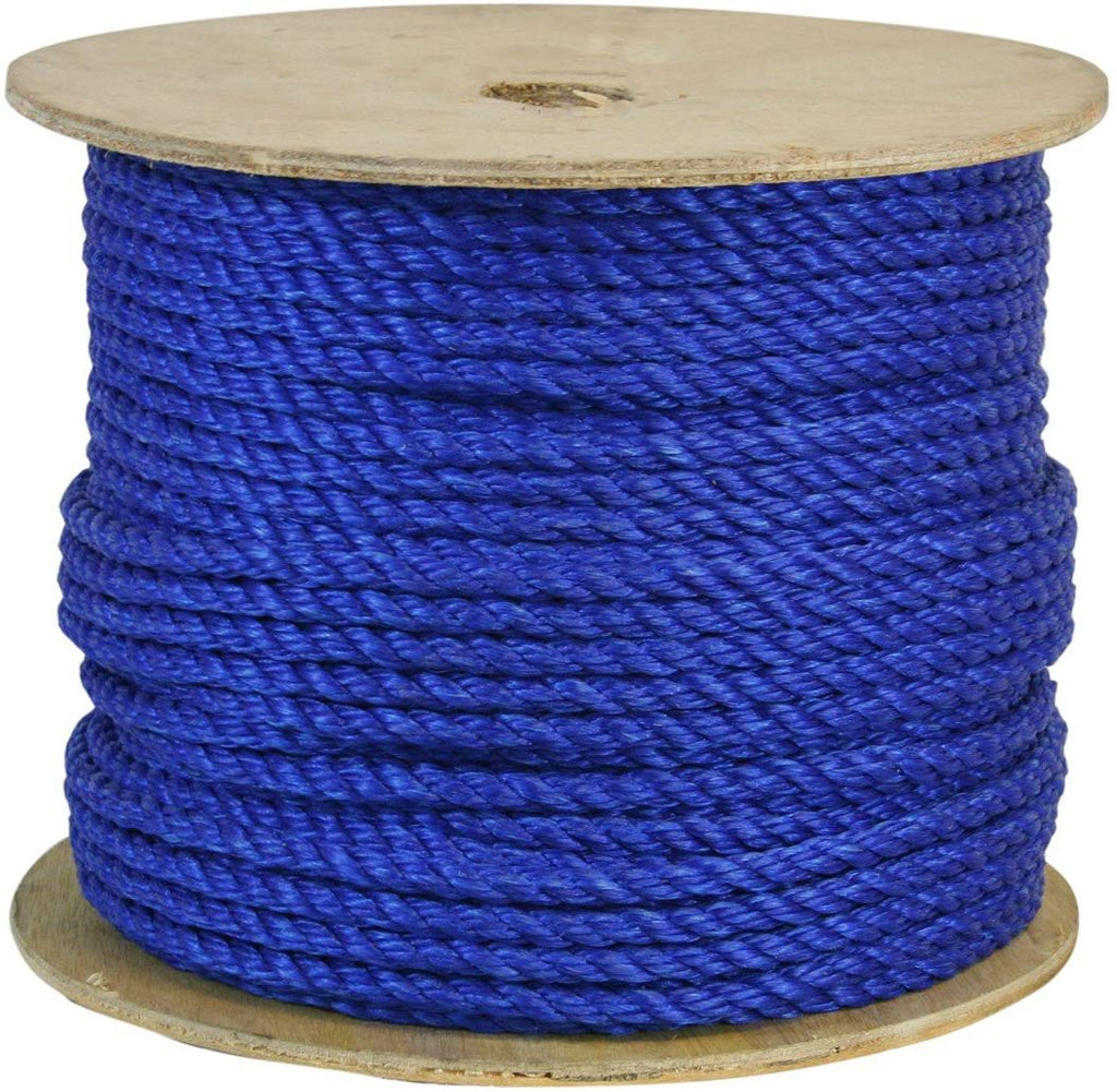 CWC 301215 1/2 Inch Poly Pro Blue Rope 600 Feet Long - StaplerManiaStore