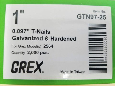 "GREX 1"" X 097 TNAILS 2M - StaplerManiaStore"
