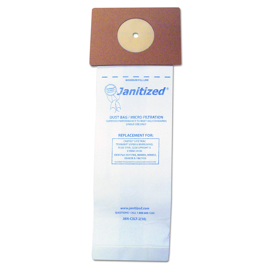 Janitized JANCXLT2 Vacuum Filter Bags Designed to Fit Nobles Lite Trac/Tennant Viper (Case of 100) - StaplerManiaStore