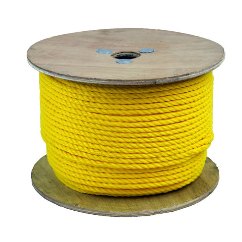 300035 1/4 Inch Poly Pro Yellow Rope 600 Feet Long - StaplerManiaStore