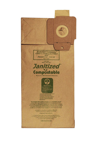 Janitized COM-KACV30-4(5) Replacement Commercial Vacuum Paper Bag - StaplerManiaStore