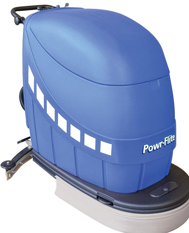 "Powr-Flite PAS20-DXBC Self-Propelled Battery Powered Automatic Scrubber, 180 rpm, 20"" - StaplerManiaStore"