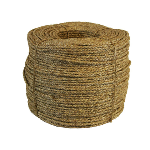 200015 1/4 Inch General Purpose Manilla Natural Rope 2500 Feet Long - StaplerManiaStore