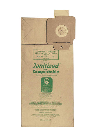Janitized COM-KACV30-4(5) Replacement Commercial Vacuum Bag - StaplerManiaStore