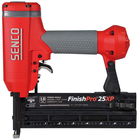 Senco FinishPro 25XP 5/8-Inch to 2-1/8-Inch 18 Gauge Brad Nailer with Case - StaplerManiaStore