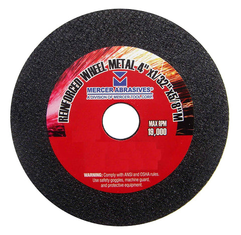 Mercer Abrasives 614030-100 Small Diameter High Speed Fully Reinforced Cut-Off Wheels 4-Inch by 1/32-Inch by 3/8-Inch C, 100-Pack - StaplerManiaStore
