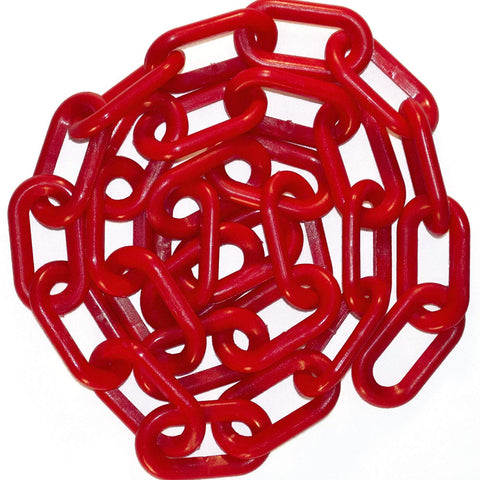 "1""  Plastic Chain, 100 feet-Red - StaplermaniaStore"