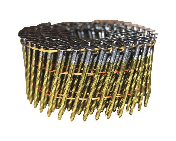 "15 Degree Wire Coil Nails 2"" x .099 Screw Coil Nail 9m - StaplermaniaStore"