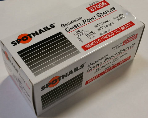 "C06 Upholstery  Staple 22 Gauge 3/8"" crown, 3/8"" length - StaplerManiaStore"