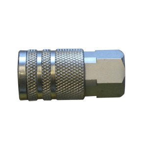 "CH440 1/4"" Industrial Steel Coupler x 1/4"" Female NPT - StaplermaniaStore"