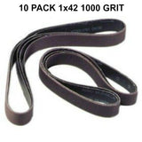 1X42 Sharpening Sanding Belts - Multiple Grits & Grit Materials Available - Coarse to Very Fine Available