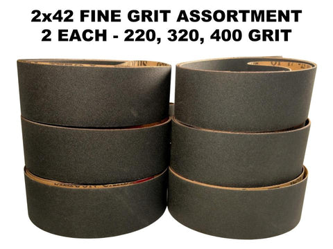 2x42 Silicon Carbide Sharpening & Sanding Belts Pro Sharpening Supplies - 6 PK