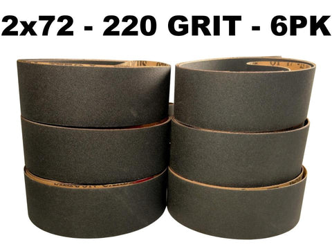 2x72 Silicon Carbide Sanding & Sharpening Belts - 6 packs
