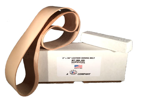 2 in. X 36 in. Leather Strop Belt fits 4x36 Belt Sanders Honing Sharpening