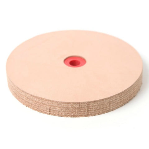 "6"" Leather Stropping Wheel Buffing Compound Included - Pro Sharpening Supplies"
