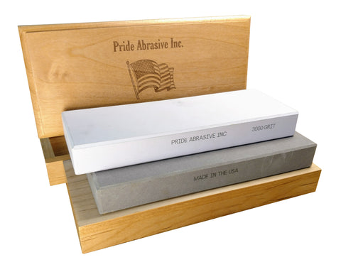 PRIDE ABRASIVE WATER STONE SHARPENING STONES MADE WITH PRIDE IN THE USA