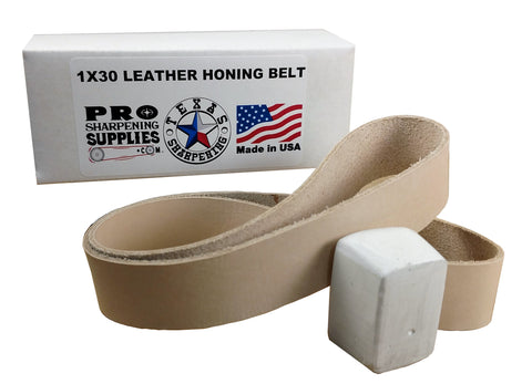 1x30 Leather Strop Belt - Buffing Compound Included - Pro Sharpening Supplies
