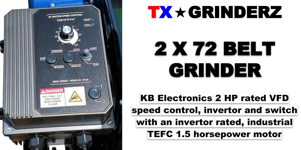 TX GRINDERZ 2X72 BELT GRINDER SANDER 1.5 HP KNIFE MAKER HEAVY DUTY MADE IN USA