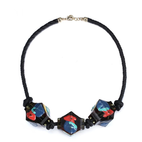 Nailah Glassblock Necklace, Necklace, Bold Addictions™ - Bold Addictions | Fashion Jewelry & Accessories Boutique