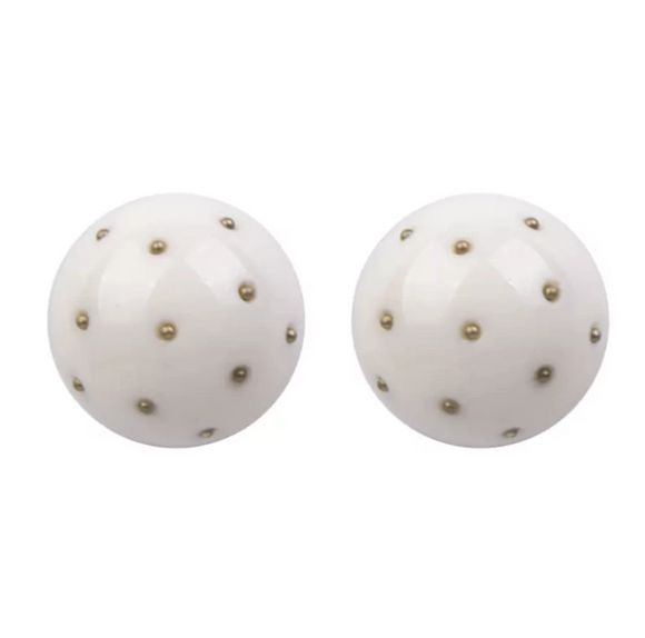 Nova Studs - White, Earrings, Bold Addictions™ - Bold Addictions | Fashion Jewelry & Accessories Boutique