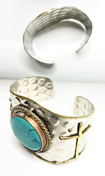 Dana Cross Cuff, Bracelet, Bold Addictions™ - Bold Addictions | Fashion Jewelry & Accessories Boutique