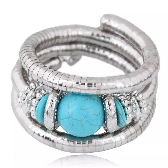 Zara Beaded Stretch Bracelet - Turquoise, Bracelet, Bold Addictions™ - Bold Addictions | Fashion Jewelry & Accessories Boutique