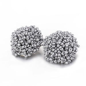 Brandy Beaded Studs - Silver, Earrings, Bold Addictions™ - Bold Addictions | Fashion Jewelry & Accessories Boutique