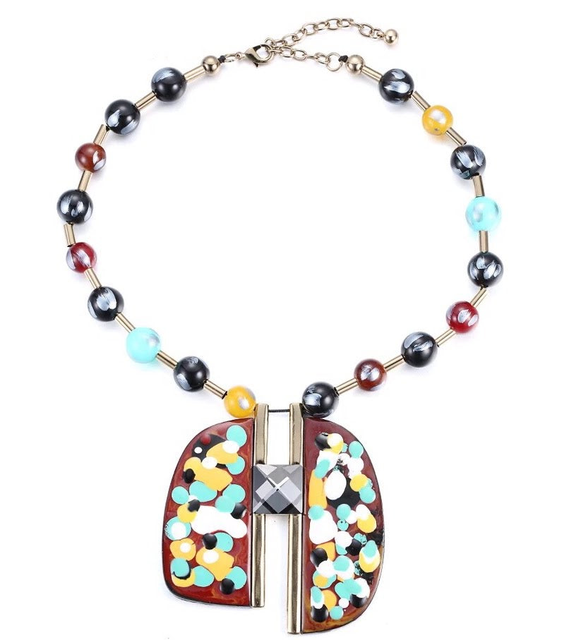 Picasso Statement Necklace, Necklace, Bold Addictions™ - Bold Addictions | Fashion Jewelry & Accessories Boutique