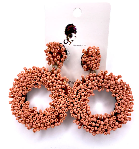 Lawanda Beaded Hoops - Orange