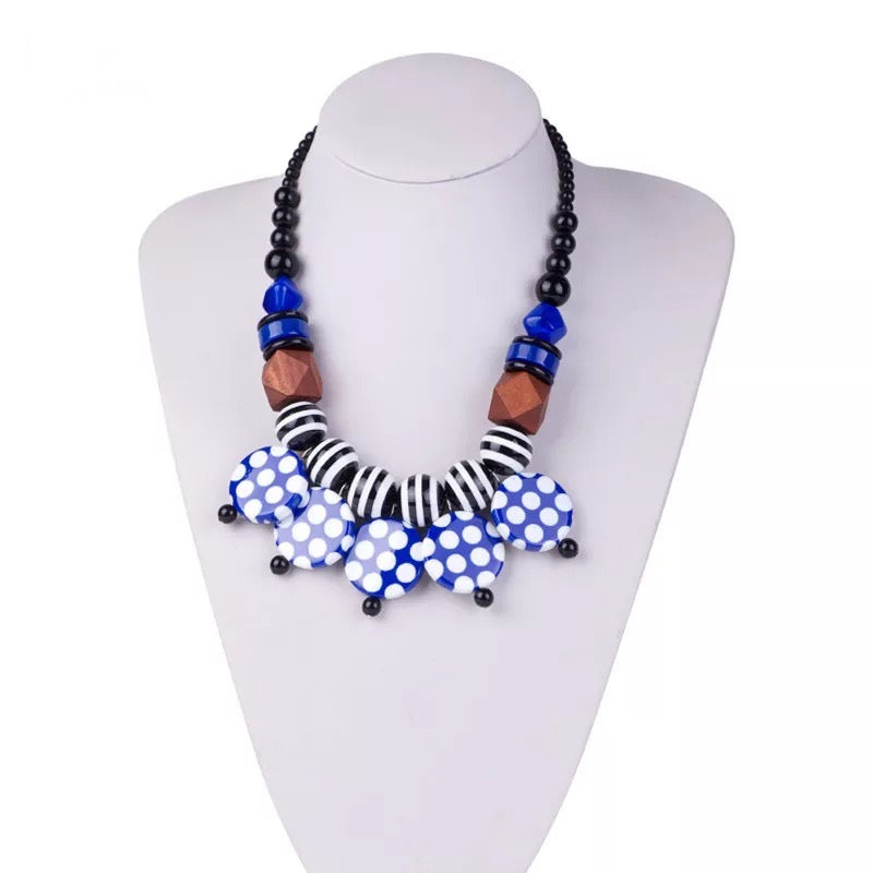 Rhonda Necklace Set - Blue