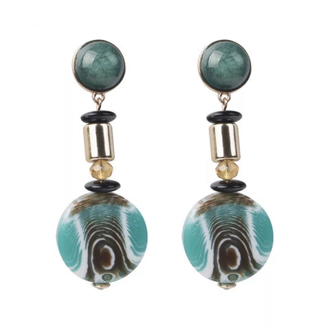 Elon Drop Earrings - Blue