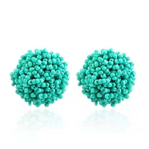 Brandy Beaded Studs - Turquoise