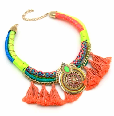 Kandi Tassel Necklace Set