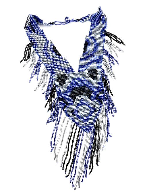 Nyla Beaded Bib - Blue