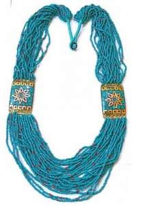 Beaded Goddess Statement Necklace