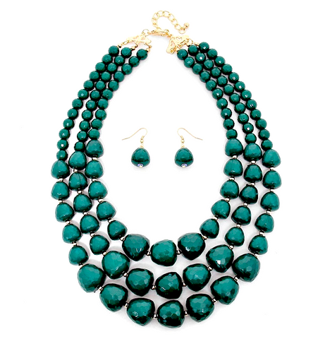 Chloe Beaded Necklace Set