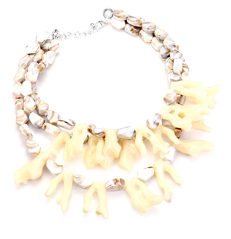 Makena Coral Necklace - Brown