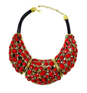 Mona Stone Necklace - Red