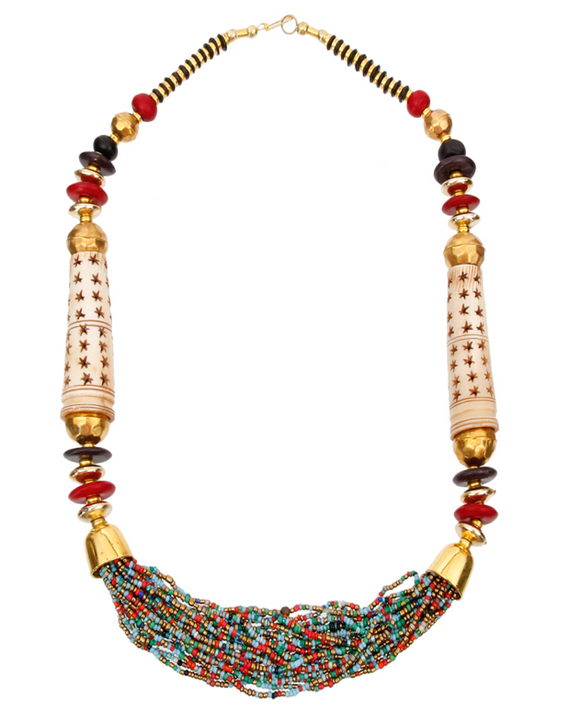 Zai Matinee Necklace - MultiColor, Necklace, Bold Addictions™ - Bold Addictions | Fashion Jewelry & Accessories Boutique
