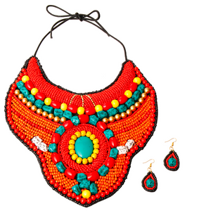 Zada Beaded Bib, Necklace, Bold Addictions™ - Bold Addictions | Fashion Jewelry & Accessories Boutique