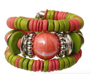 Zara Beaded Stretch Bracelet - Green, Bracelet, Bold Addictions™ - Bold Addictions | Fashion Jewelry & Accessories Boutique