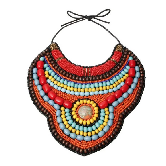 Tanzi Bib, Necklace, Bold Addictions™ - Bold Addictions | Fashion Jewelry & Accessories Boutique