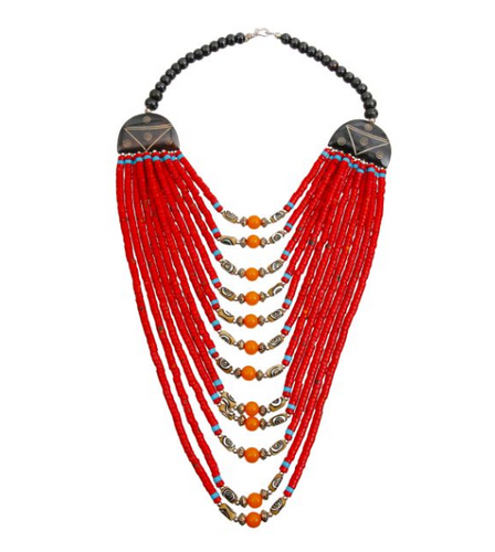 Nala Beaded Necklace, Necklace, Bold Addictions™ - Bold Addictions | Fashion Jewelry & Accessories Boutique