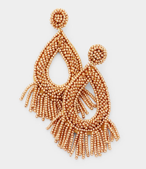 Alika Fringe Drop Earrings - Gold, Earrings, Bold Addictions™ - Bold Addictions | Fashion Jewelry & Accessories Boutique