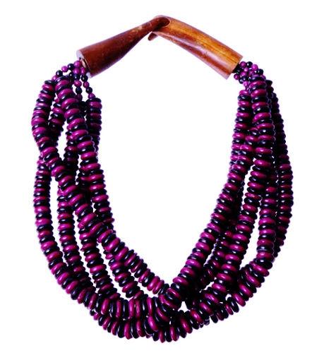 Anjeanne Necklace - Purple