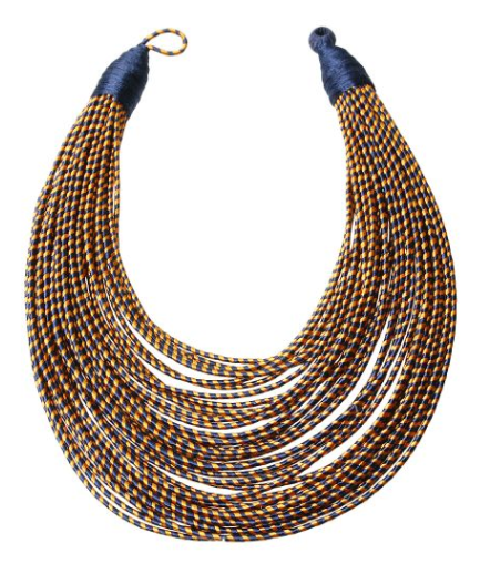 Zuri Tribal Bib - Blue, Necklace, Bold Addictions™ - Bold Addictions | Fashion Jewelry & Accessories Boutique