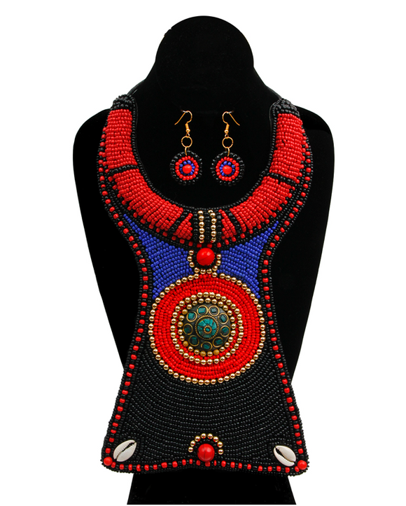 Anza Bib - Black, Necklace, Bold Addictions™ - Bold Addictions | Fashion Jewelry & Accessories Boutique